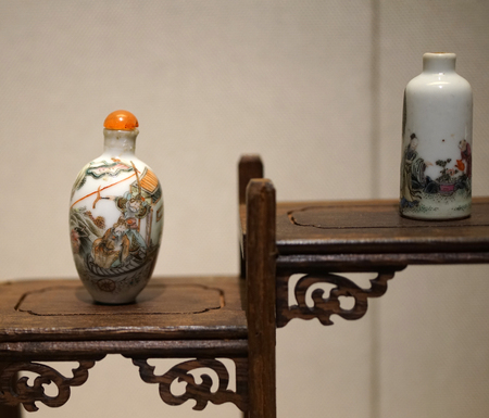 Painted pottery snuff bottle Editorial
