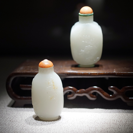 White jade snuff bottle Editorial