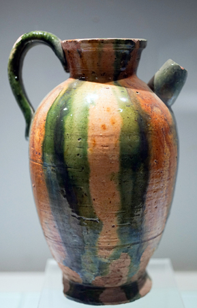 Tri Colored Porcelain Pot Of Tang Dynasty Stock Photo Picture And