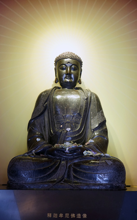The statue of the Buddha