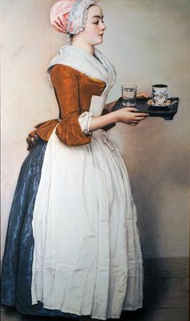 Barmaid western oil painting
