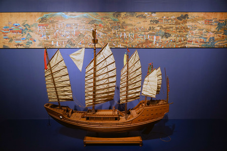 Wood ship of the Ming Dynasty Redakční