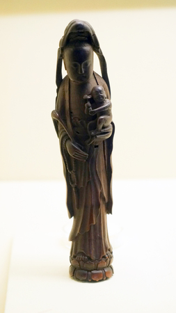 Bamboo carving Guanyin image