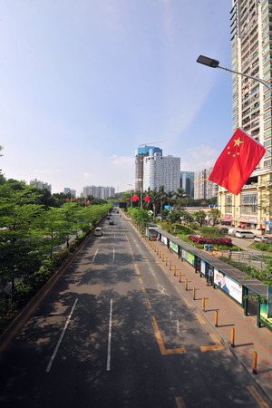 Urban road in Shenzhen scenery