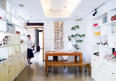 Tea house interior 에디토리얼