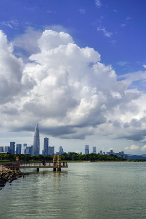 Shenzhen Bay scenery Editorial
