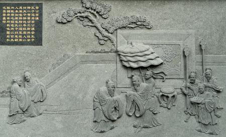 Confucius holy map Editorial