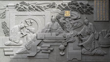 Confucius Education Six Arts Emboss Wall