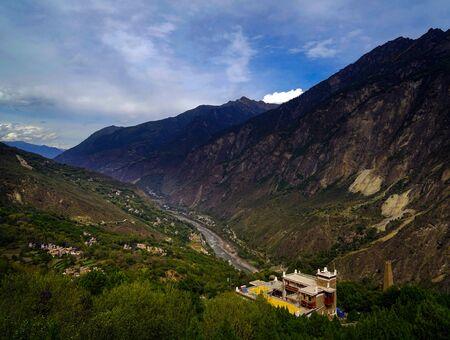 Jiaju Tibetan Village scenery