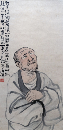 Traditional Chinese painting of Luohan portrait