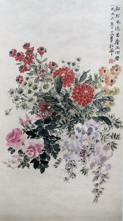 Traditional Chinese painting of flowers