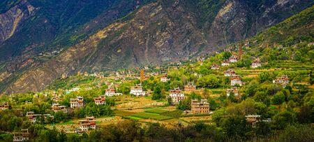 Tibetan village architecture