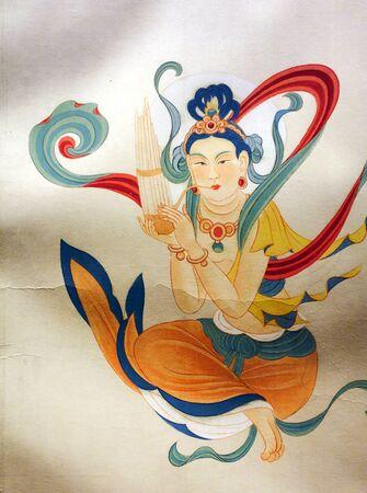 Zhang Daqianlin Dunhuang Mural traditional Chinese painting 新聞圖片
