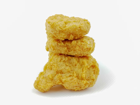 chicken nuggets on a white background Stockfoto