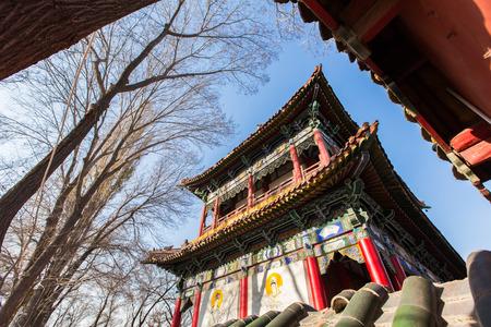 xinjiang: Un temple dans le Xinjiang, la Chine