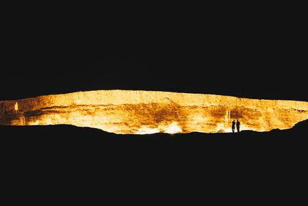 Turkeminstan Derzawa Gas Crater in the Desert Фото со стока - 85403715