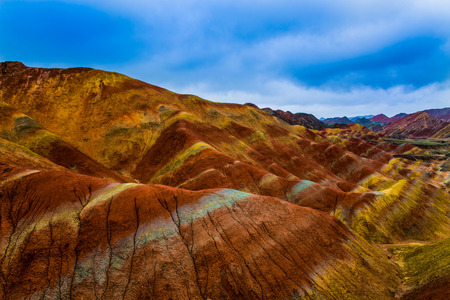 landforms:  Zhangye danxia scenery view after the rain Stock Photo