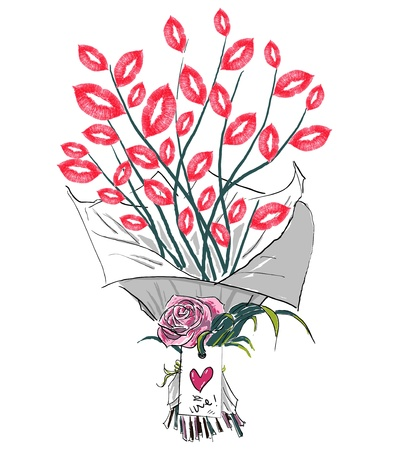 flower and lips Illustration