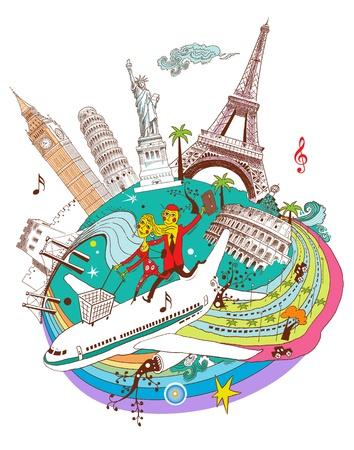 World tourism shopping Banque d'images