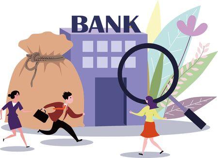 Risk supervision and supervision of bank wealth management Illustration
