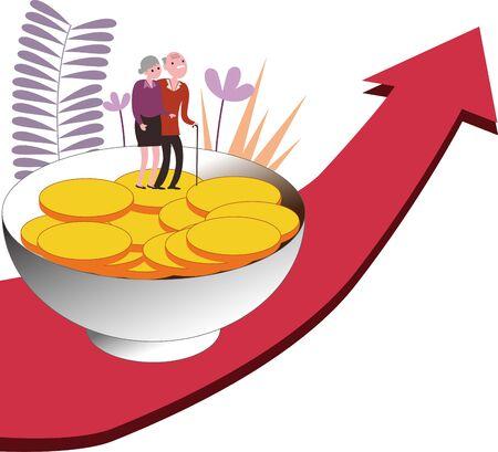 Senior citizens savings investment pensions enter stocks