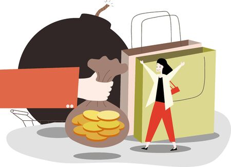 Financial banks advanced consumption installment loan risk Ilustracja