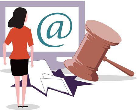 Network information disclosure, leaking, sentencing Vectores