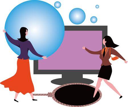 Financial illustration online shopping concept image