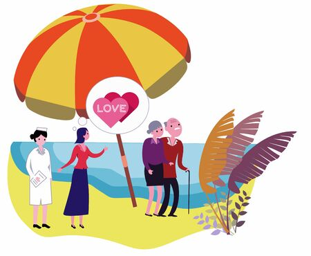 Caring for the elderly, relaxing at the beach, caring for the children of the family and nurses