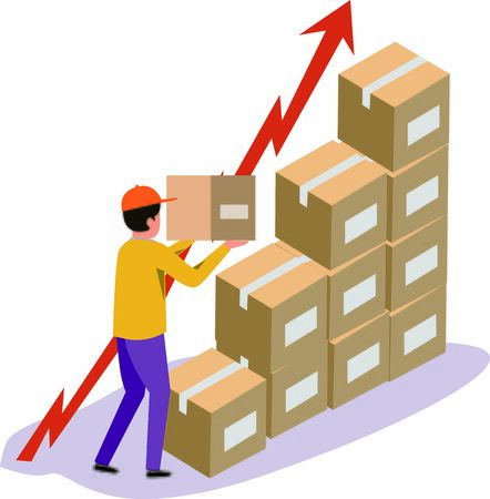 Concept of logistics business growing rapidly