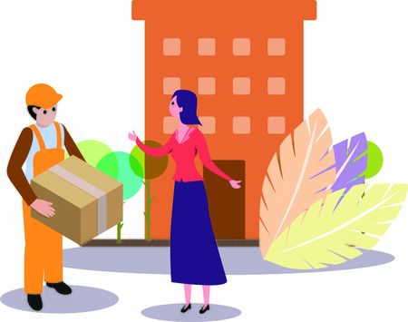 Parcel being delivered to consumer