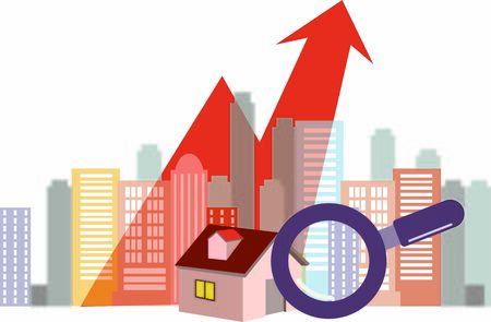 Concept of increase in property prices
