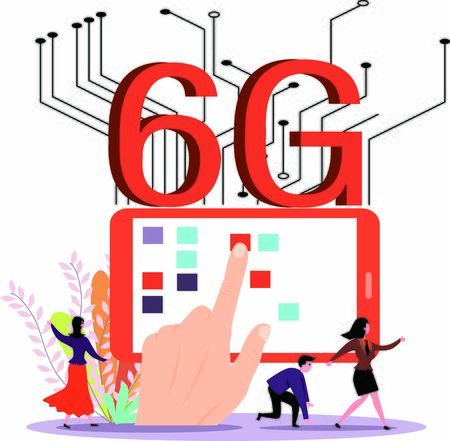 Concept of 6G technology network is under research and development Illustration