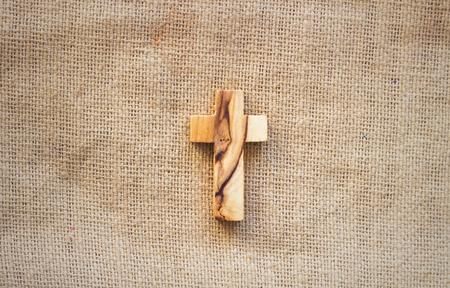 Cross on the Bible Archivio Fotografico