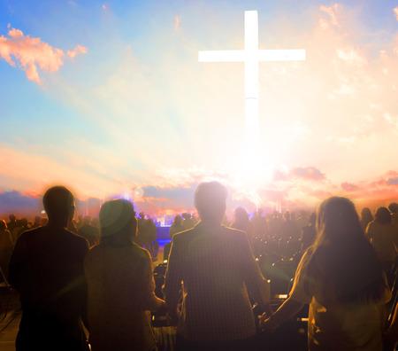 Good Friday-concept: illustratie van de kruisiging van Jezus Christus op Good Friday Stockfoto
