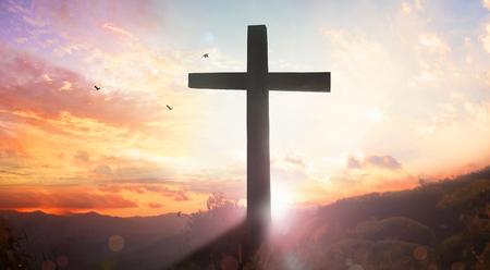 Good Friday concept: illustration of Jesus Christ crucifixion on Good Friday