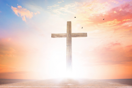 Concetto del Venerdì Santo: illustrazione della crocifissione di Gesù Cristo il Venerdì Santo Archivio Fotografico