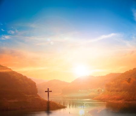 religious cross background Reklamní fotografie