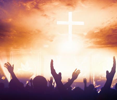 Concepto de Navidad: cruz de Cristo Jesús