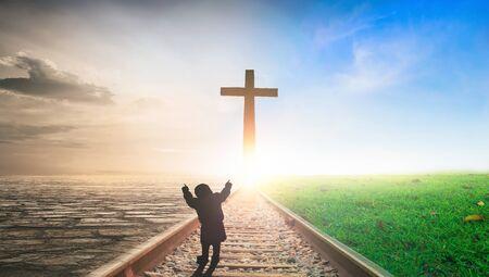 cross under sunset