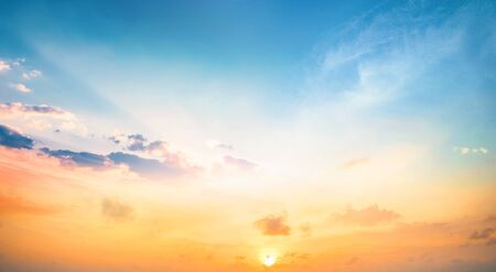 World Environment Day concept: blue sky sunrise background Stock fotó