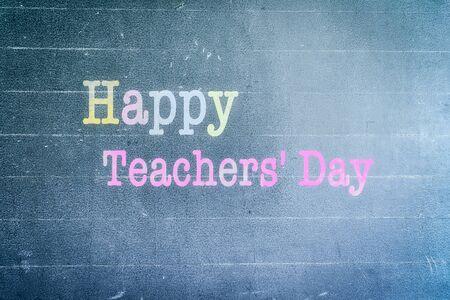 World Teachers Day concept: Happy world teachers day