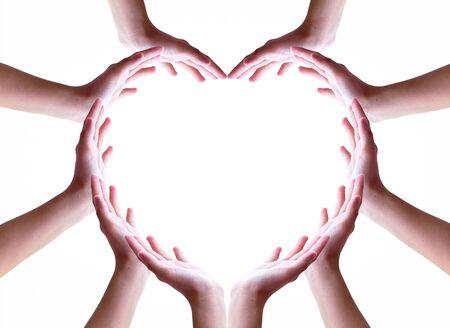 International Day of Friendship concept: hands making a heart 免版税图像