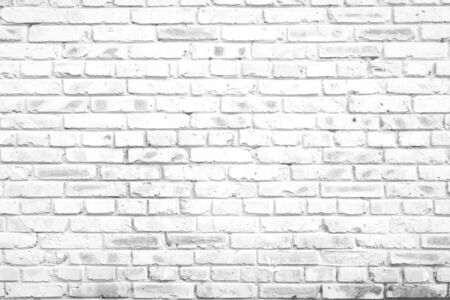White texture background concept: white brick wall background in rural room 스톡 콘텐츠