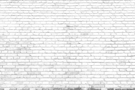 White texture background concept: white brick wall background in rural room 免版税图像