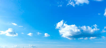 World Environment Day concept: Blue sky with white clouds 스톡 콘텐츠