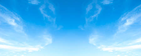 World Environment Day concept: blue sky with cloud
