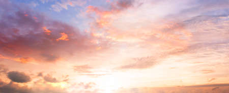 Nature background concept: Beautiful sky with cloud before sunset
