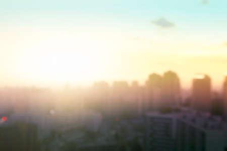 blur city skyline landscape sunrise background 스톡 콘텐츠