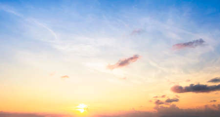 Scenic orange sunset sky